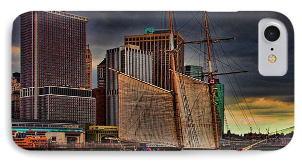 Sailing On The East River Phone Case by Chris Lord