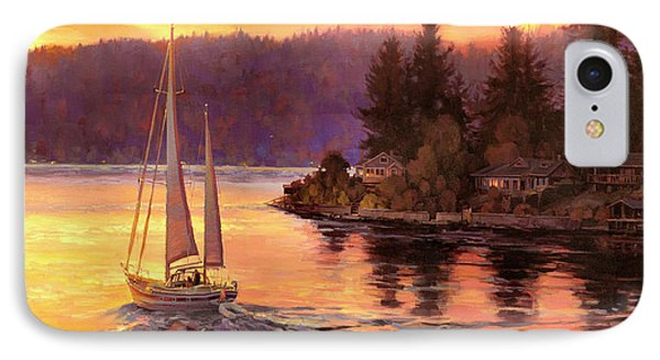 Seattle iPhone 7 Case - Sailing On The Sound by Steve Henderson