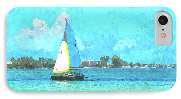 Sailing Out Of The Shadow IPhone Case
