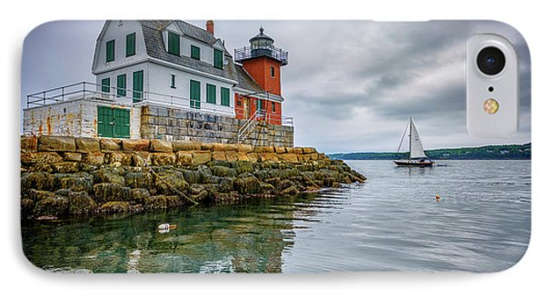 Sailing Past The Breakwater IPhone Case