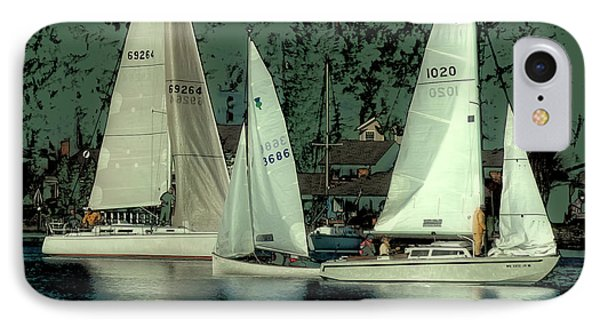 IPhone 7 Case featuring the photograph Sailing Reflections by David Patterson