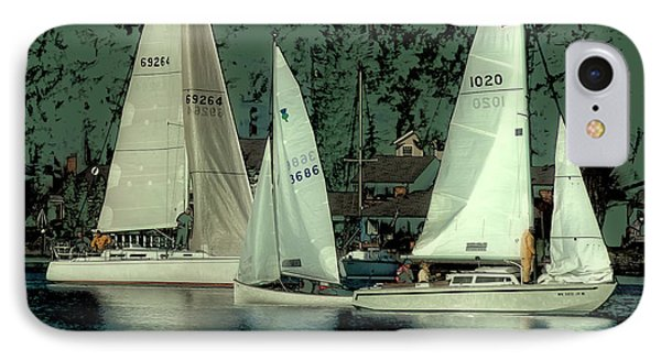 IPhone Case featuring the photograph Sailing Reflections by David Patterson