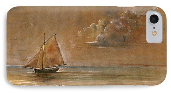 Sailing Ship At Sunset IPhone Case