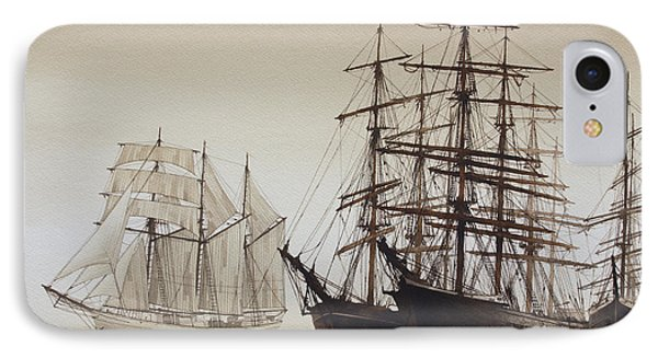 Sailing Ships Phone Case by James Williamson