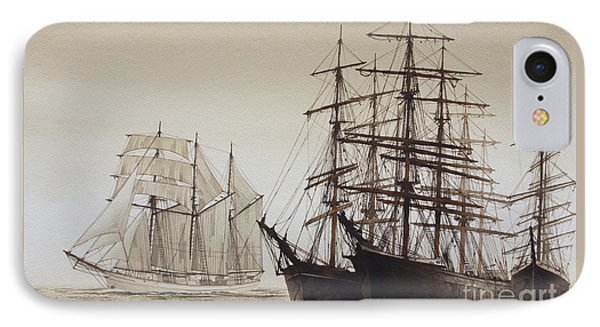 Sailing Ships IPhone Case by James Williamson