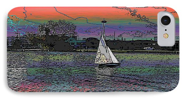 Sailing South Lake Union IPhone Case by Tim Allen