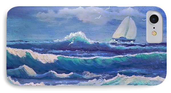 IPhone Case featuring the painting Sailing The Caribbean by Holly Martinson