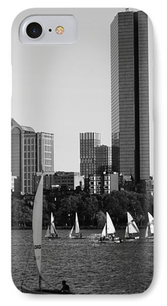 Sailing The Charles River Boston Ma Black And White IPhone Case by Toby McGuire