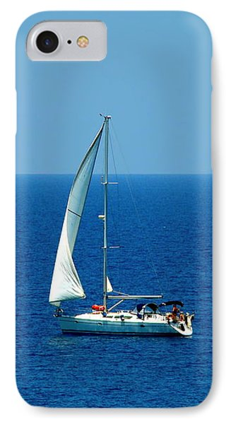 Sailing The Deep Blue Sea Phone Case by Sue Melvin
