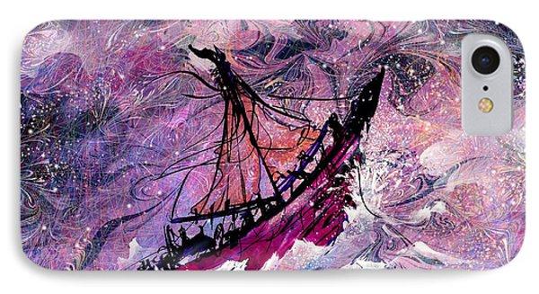 Sailing The Heavens Phone Case by Rachel Christine Nowicki