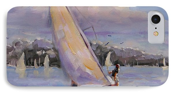 Sailing The Islands Of Boston IPhone Case by Laura Lee Zanghetti