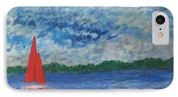 Sailing The Wind IPhone Case by John Scates