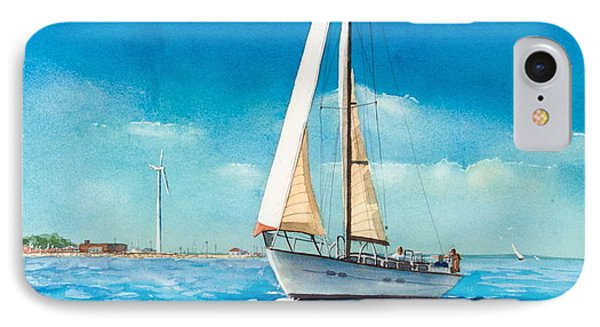 Sailing Through The Gut Phone Case by Laura Lee Zanghetti