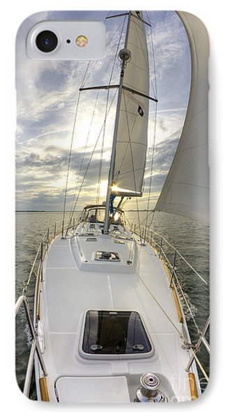 Sailing Yacht Fate Beneteau 49 IPhone Case by Dustin K Ryan