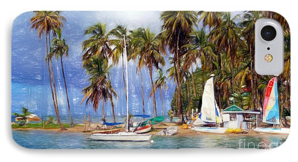 Sails And Palms IPhone Case