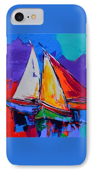 Sails Colors IPhone Case by Elise Palmigiani