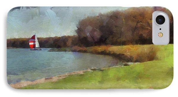 Sails On Lake Wampum IPhone Case