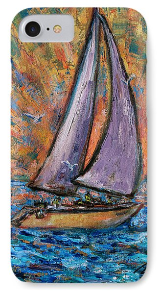 IPhone Case featuring the painting Sails Up by Xueling Zou