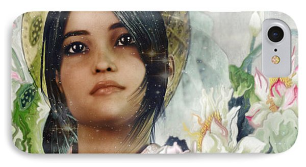 Saint Anna Wang Light Of China IPhone Case by Suzanne Silvir