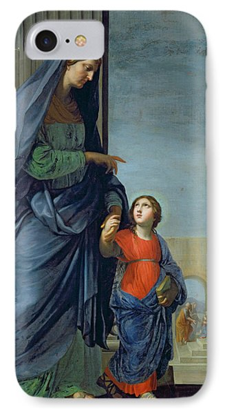 Saint Anne Leading The Virgin To The Temple Phone Case by Jacques Stella
