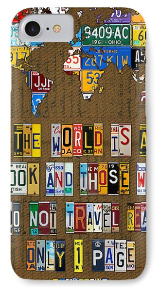Saint Augustine Travel Quote Recycled Vintage License Plate Letter Word Art IPhone Case