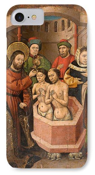 Saint Bartholomew Baptising IPhone Case