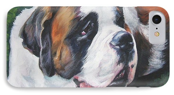 Saint Bernard Phone Case by Lee Ann Shepard