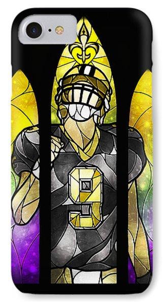 Saint Brees Phone Case by Mandie Manzano