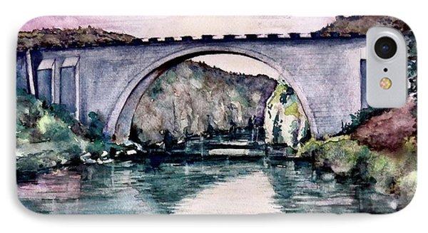 IPhone Case featuring the painting Saint Bridge by Geni Gorani