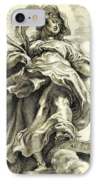 Saint Catherine In The Clouds IPhone Case by Peter Paul Rubens