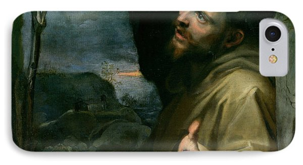 IPhone Case featuring the painting Saint Francis by Federico Barocci