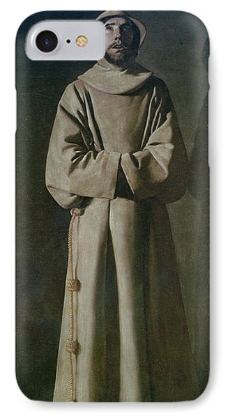 Saint Francis IPhone Case by Francisco de Zurbaran