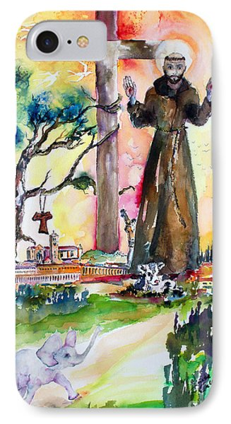 IPhone Case featuring the painting Saint Francis Of Assisi Italy  by Ginette Callaway