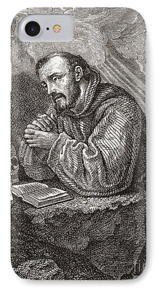 Saint Francis Of Assisi IPhone Case by Lodovico Cardi