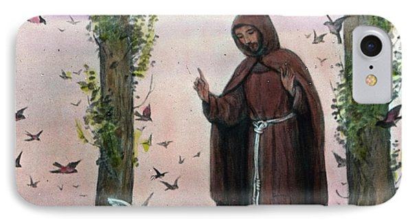 Saint Francis Of Assisi Preaching To The Birds IPhone Case by German School