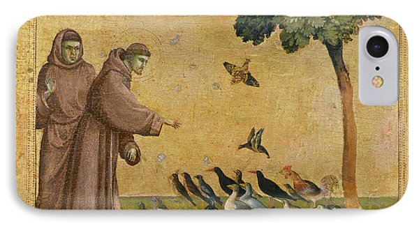 Saint Francis Of Assisi Preaching To The Birds IPhone Case by Giotto di Bondone