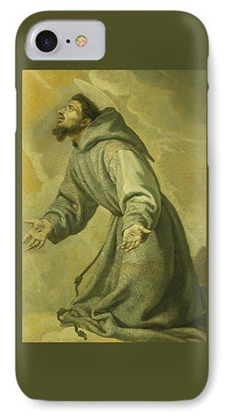 Saint Francis Receiving The Stigmata IPhone Case by Vicente Carducho