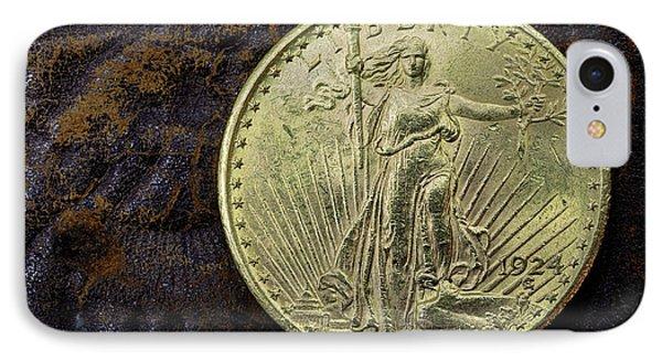 Saint Gaudens Gold IPhone Case by JC Findley