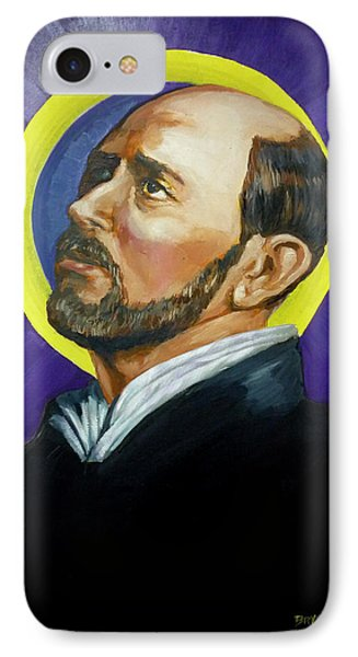 IPhone Case featuring the painting Saint Ignatius Loyola by Bryan Bustard