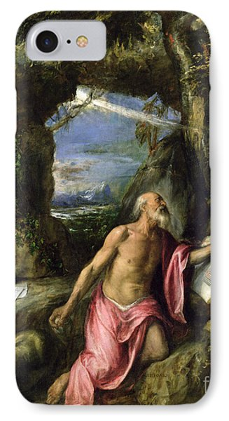 Saint Jerome Phone Case by Titian