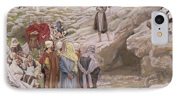 Saint John The Baptist And The Pharisees IPhone Case by Tissot