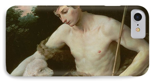 Saint John The Baptist In The Wilderness IPhone Case by Guido Reni