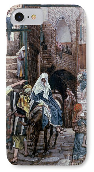 Saint Joseph Seeks Lodging In Bethlehem IPhone Case by Tissot