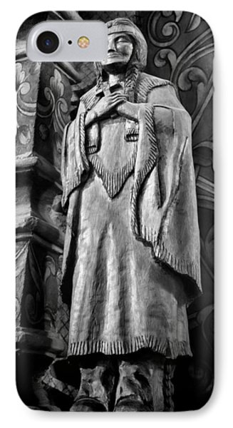 Saint Kateri Tekakwitha - Bw IPhone Case by Stephen Stookey