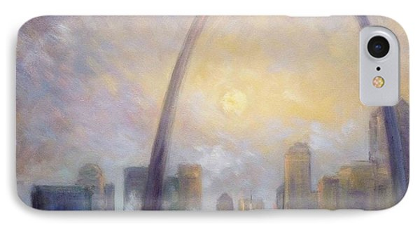 Saint Louis Skyline - Frosty Day IPhone Case