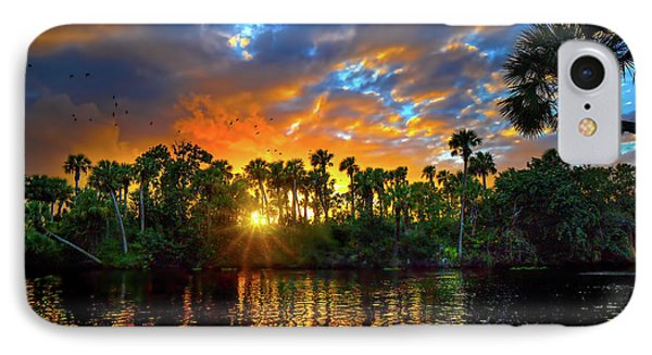 Saint Lucie River Sunset IPhone Case