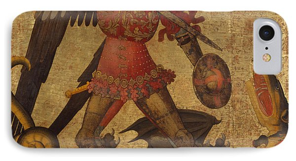 Saint Michael And The Dragon IPhone Case