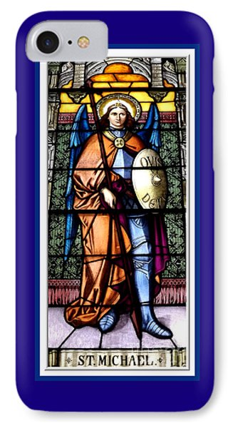 Saint Michael The Archangel Stained Glass Window IPhone Case by Rose Santuci-Sofranko