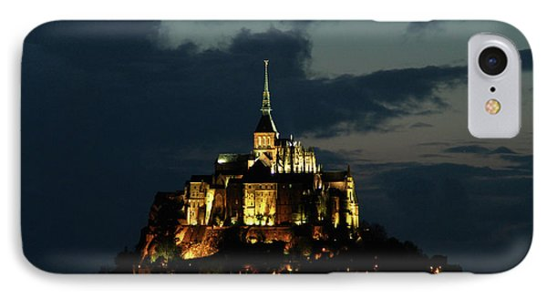 IPhone Case featuring the photograph Saint Michel Mount After The Sunset, France by Yoel Koskas