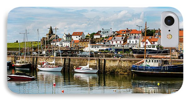 Saint Monans Harbour IPhone Case by MaryJane Armstrong